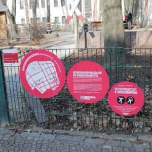 Bewegungsparcours im Brunnenviertel